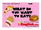 Học từ vựng bằng hình ảnh - What do you want to eat ?