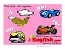 Học từ vựng bằng hình ảnh - Drivw, ride, take, fly