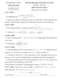 Đề thi học sinh giỏi môn Toán học  lớp 11 - Kèm đáp án