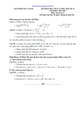 Đề thi học sinh giỏi Toán học 11 kèm đáp án