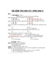 Tổng hợp đề kiểm tra Hình học lớp 6 học kì 1