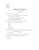 Đề kiểm tra cuối học kì 2 môn tự nhiên xã hội lớp 3