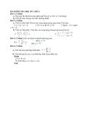 Bài Kiểm tra học kỳ 2 môn Tin học lớp 12 Trường THPT Như Thanh đề số 1