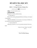 Đề kiểm tra  môn mĩ thuật lớp 1 Trường Tiểu học Hướng Tân