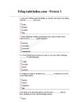 Trắc nghiệm tổng hợp trình độ C bài 3