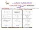Bộ đề thi Violympic Toán lớp 7 - Vòng 01 năm 2011 Đề số 02