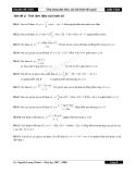 Một số bài tập ứng dụng đạo hàm môn toán 12 - Tính đơn điệu của hàm số