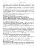 Đề thi  môn công nghệ 10 mã đề 132