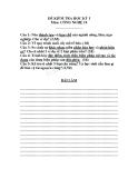 4 Đề thi học kì 1 môn Công Nghệ 10 - Kèm theo đáp án