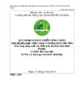 Luận văn: Hiện trạng và hướng phát triển diện tích, tăng năng suất cây điều trên địa bàn tỉnh Bình Phước