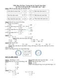 Đề thi cuối học kỳ 2 lớp 2 Trường tiểu học Nguyễn Ngọc Bình