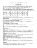 Đề cương ôn tập môn vật lý lớp 6 học kì 2 năm học 2012-2013