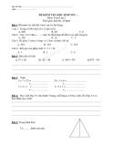 Kiểm tra học sinh yếu toán 2