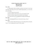Đề thi học kì 1 Cuộc kháng chiến chống quân Triệu Đà lịch sử lớp 6