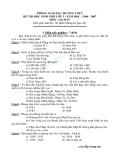 Đề thi học sinh giỏi môn lịch sử lớp 5 năm 2006 - 2007 PHÒNG GIÁO DỤC HƯƠNG THUỶ