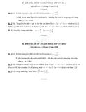 Đề kiểm tra 1 tiết Toán 12 - Chương 1 Ứng dụng đạo hàm - Giải tích