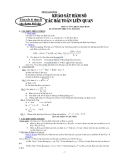Lý thuyết và các dạng bài tập về giải tích và hình học lớp 12