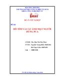 Đề tài:  DÒ TÌM VÀ CẮT ẢNH MẶT NGƯỜI DÙNG PCA