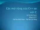 Các mở rộng của C++ so với C