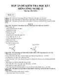 Đáp án đề kiểm tra học kì 1 môn công nghệ  lớp 12 năm học 2012-2013 - Mã đề 131