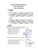 Đáp án đề kiểm tra học kì 1 môn công nghệ  lớp 11 năm học 2012-2013