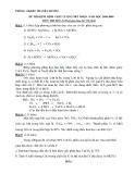 Đề kiểm tra 1 tiết Hóa 8 - Phương trình hóa học và nhận biết chất hóa học (Kèm đáp án)