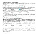 Bài tập trắc nghiệm hóa học lớp 12