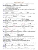 Bài tập hóa học lớp 12 về kim loại kiềm thổ