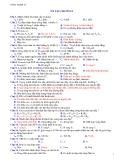 70 Câu hỏi trắc nghiệm ôn tập chương 1 môn công nghệ lớp 12