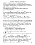 Đề khảo sát chất lượng Hóa 12 năm 2013
