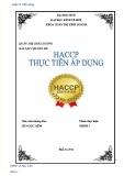 BÀI TẬP CHUYÊN ĐỀ: HACCP thực tiễn áp dụng