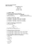 Đề thi học kỳ II - Môn tin học 8
