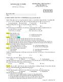 Đề kiểm tra 1 tiết Hóa 12 chương 1