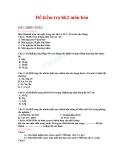 5 Đề kiểm tra HK2 môn Hóa lớp 8
