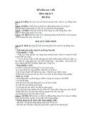 Đề kiểm tra 1 tiết Địa 9 - Đồng bằng sông Cửu Long