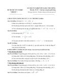 Đề thi thử tốt nghiệp THPT môn Toán của sở GDĐT - Đề 11