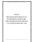 Luận văn PHÂN TÍCH CHUYỂN DỊCH CƠ CẤU NGÀNH KINH TẾ GIAI ĐOẠN 2006 - 2010 VÀ KẾ HOẠCH CHUYỂN DỊCH CƠ CẤU NGÀNH GIAI ĐOẠN 2011 - 2015