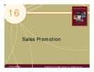 Chapter 16: Sales Promotion