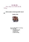 Đề tài: Quản lý cửa hàng thuốc Hoành Bồ Quảng Ninh