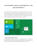 10 Cách Shutdown, Restart, Log Off, Hibernate ... đơn giản trong Windows 8
