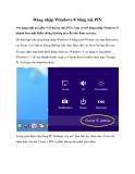 Đăng nhập Windows 8 bằng mã PIN