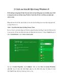 2 Cách sao lưu dữ liệu trong Windows 8