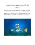 Các phím tắt thông dụng nhất của hệ điều hành windows 8