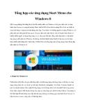 Tổng hợp các ứng dụng Start Menu cho Windows 8
