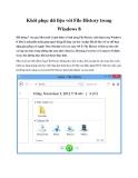 Khôi phục dữ liệu với File History trong Windows 8
