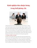 Kinh nghiệm thỏa thuận lương trong buổi phỏng vấn