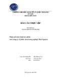 Luận văn: Phân tích tình hình tài chính của Công ty cổ phần vật tư nông nghiệp Thái Nguyên