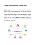 Viết quảng cáo dùng các phương pháp SEO Offpage hiệu quả