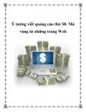 Ý tưởng viết quảng cáo thứ 30: Mỏ vàng từ những trang Web
