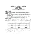 Đề thi khảo sát chất lượng học kì 1 môn địa lý 9